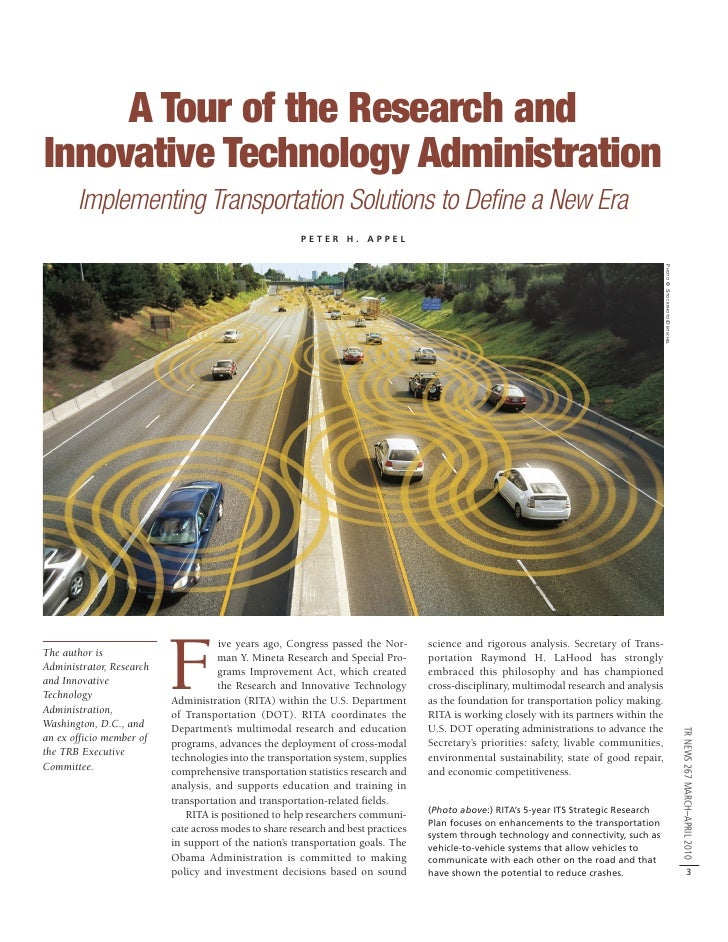 Introduction to the Research and Innovative Technology Administration