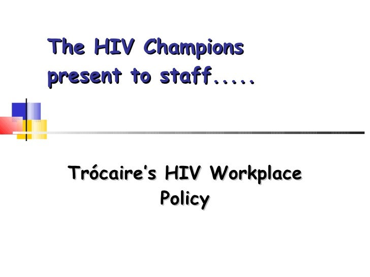 Trocaire's HIV workplace policy induction