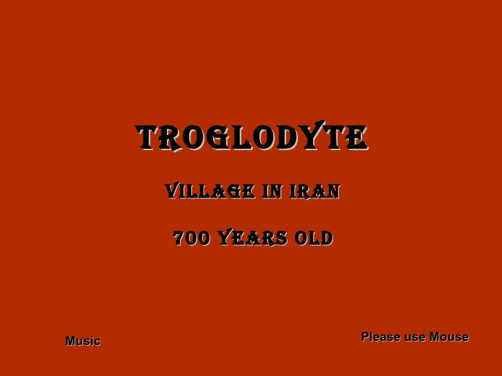 Troglodyte village in IRAN 700 years old Please use Mouse Music