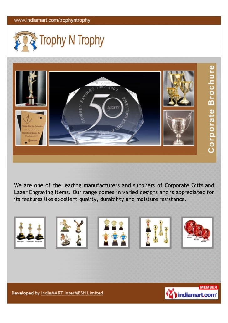 We are one of the leading manufacturers and suppliers of Corporate Gifts andLazer Engraving Items. Our range comes in vari...