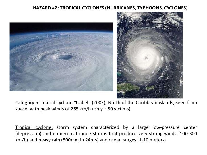 I.2 Tropical cyclones