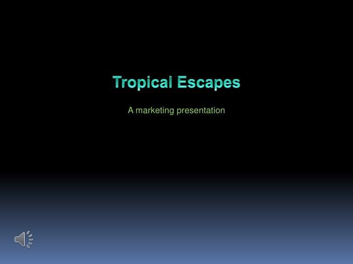 Tropical escapes travel agency marketing presentation