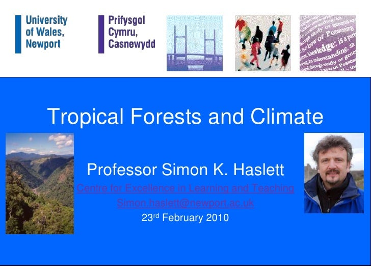 Tropical forests and climate