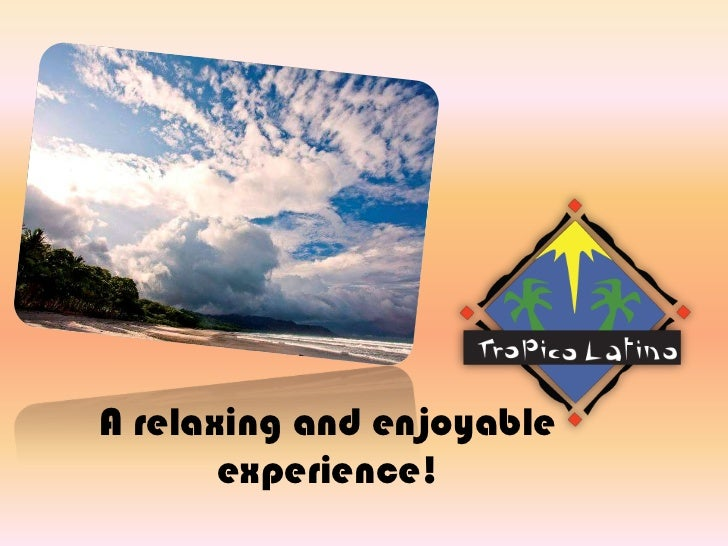 A relaxing and enjoyableexperience!<br />
