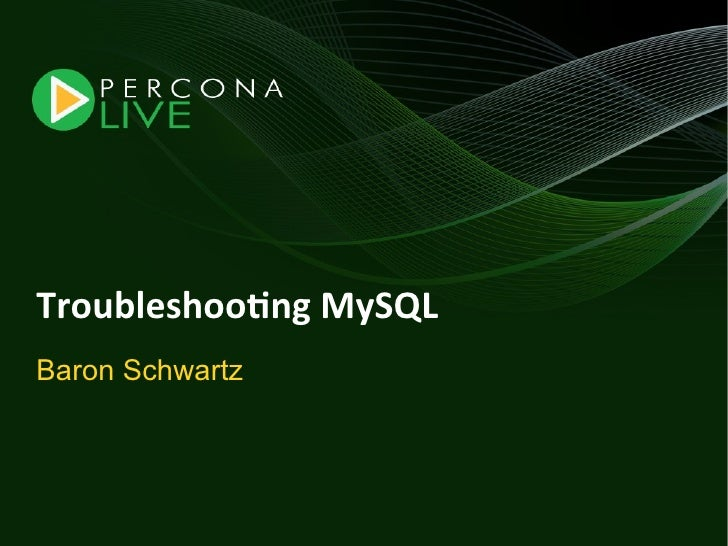 Troubleshooting mysql-tutorial