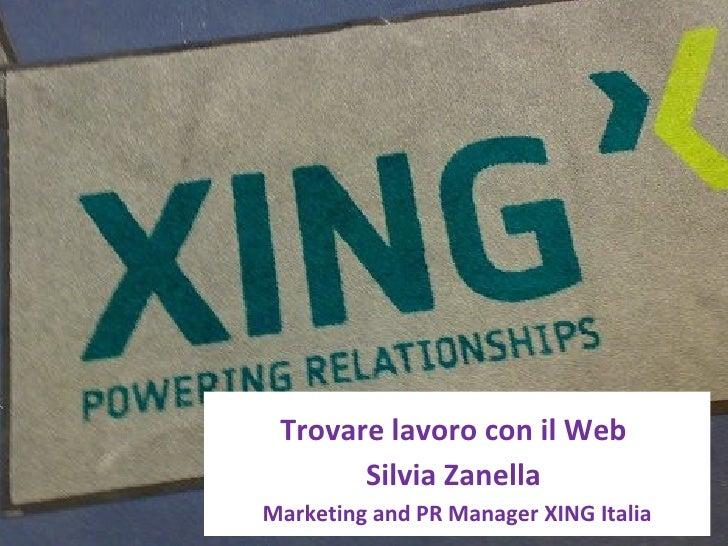Trovare lavoro con il Web, lezione all'Università di Trento