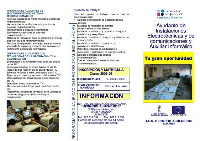 OPERACIONES AUXILIARES DE MANTENIMIENTO DE SISTEMAS MICROINFORMATICOS Técnicas auxiliares de mantenimiento de sistemas mic...