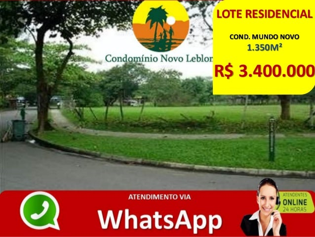 LOTE RESIDENCIAL COND. MUNDO NOVO 1.350M² R$ 3.400.000