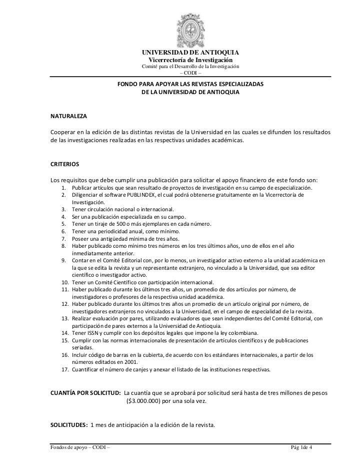 UNIVERSIDAD DE ANTIOQUIA                                       Vicerrectoría de Investigación                             ...