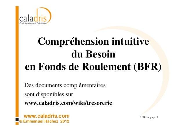Compréhension intuitive           du Besoin  en Fonds de Roulement (BFR)  Des documents complémentaires  sont disponibles ...