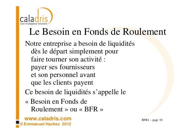 Bfr1 compr hension intuitive du besoin en fonds de roulement bfr - Fonds de roulement copropriete ...