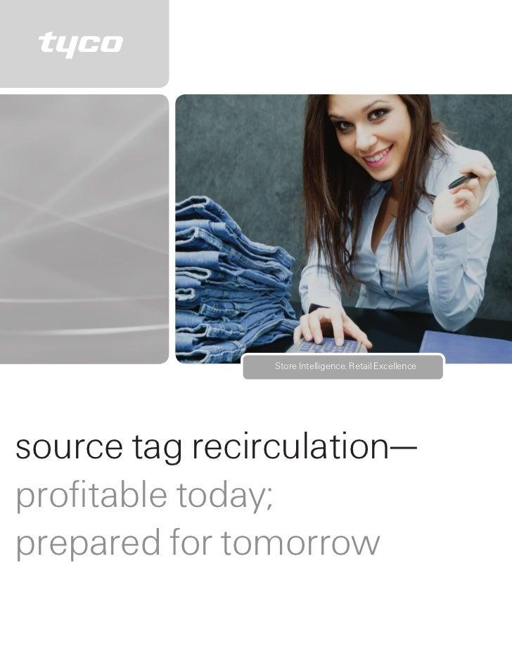 Source Tag Recirculation— Profitable Today; Prepared for Tomorrow