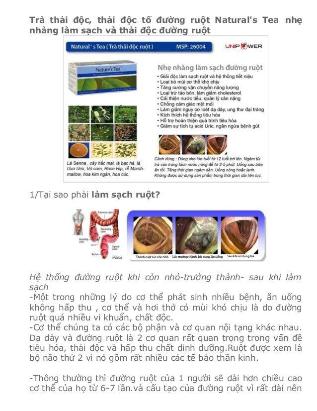 Trà thải độc, thải độc tố đường ruột Naturals Tea nhẹnhàng làm sạch và thải độc đường ruột1/Tại sao phải làm sạch ruột?Hệ ...