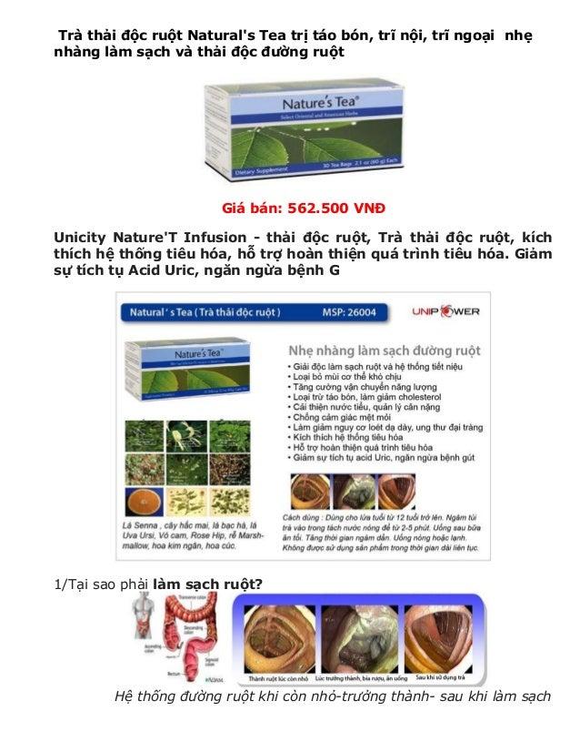 Trà thải độc ruột Natural's Tea trị táo bón, trĩ nội, trĩ ngoại nhẹ nhàng làm sạch và thải độc đường ruột  Giá bán: 562.50...