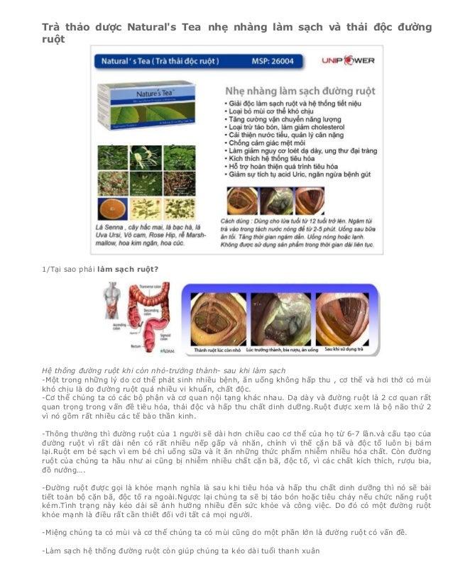 Trà thải độc ruột, thải độc tố natural's tea