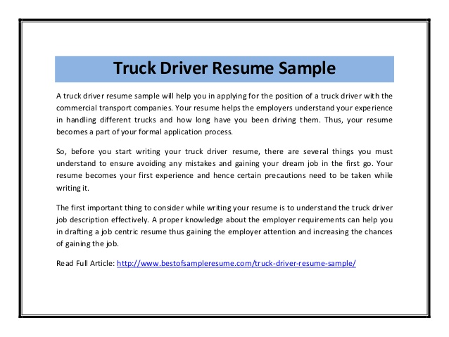 example forklift driver resume sample customer service resume - Truck Driver Resume Template
