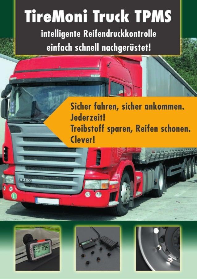 tpm-systems AG  Reifendruckkontrollsysteme Kosten und Nutzenaspekte bei Nutzfahrzeugen Korrekter Luftdruck lohnt sich glei...