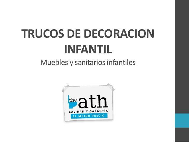 Trucos de decoracion infantil muebles y sanitarios infantiles