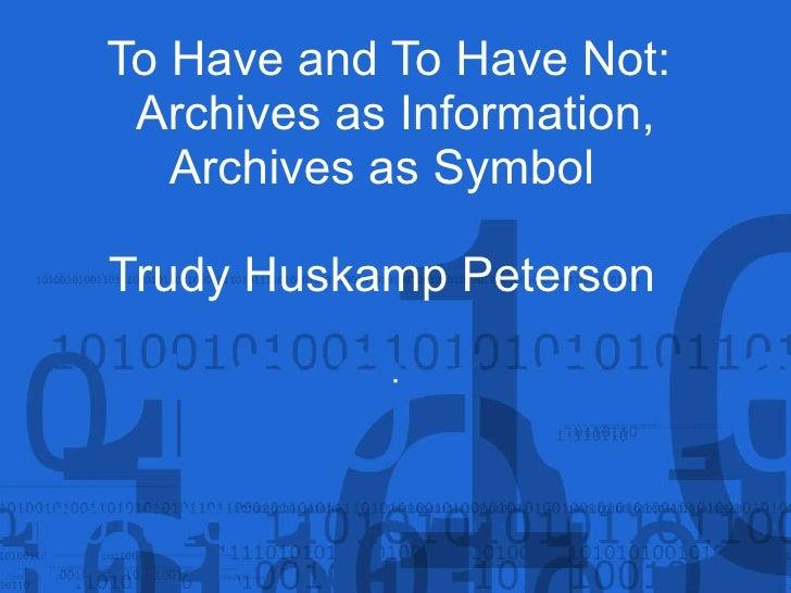 Trudy Huskamp Peterson