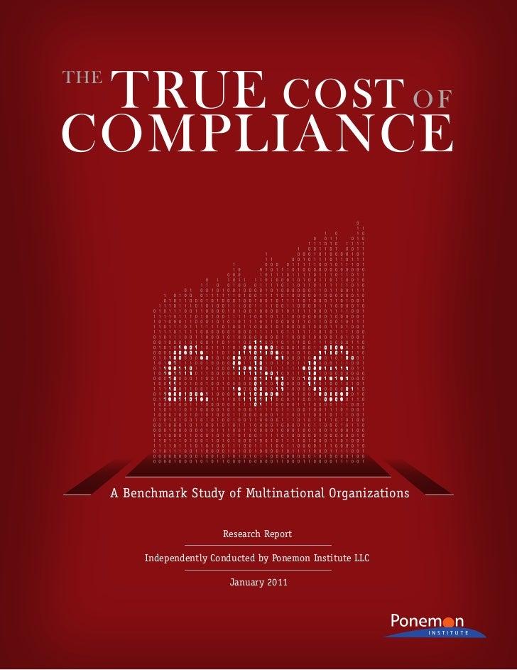 True Cost of Compliance