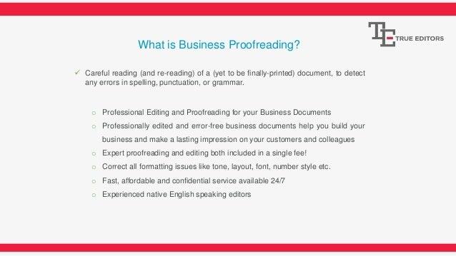 Proofreading dissertation