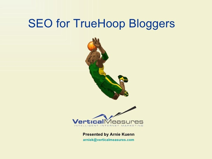 SEO for TrueHoop Bloggers