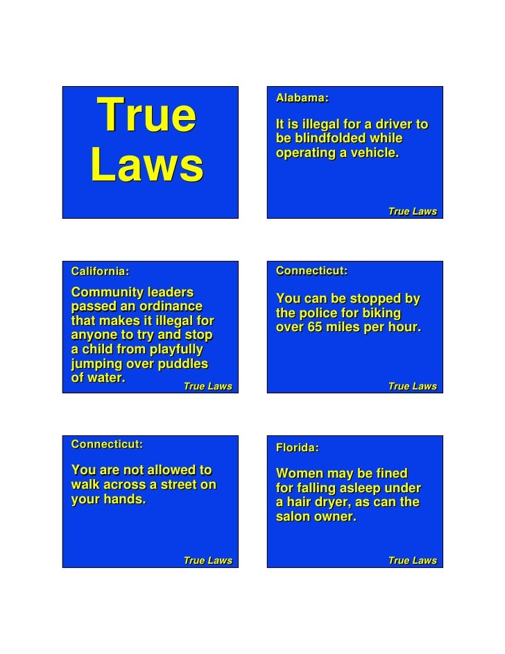True Laws