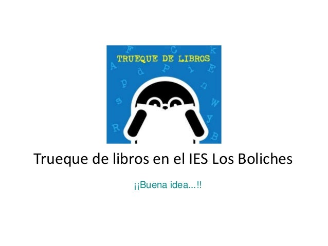 Trueque de libros en el IES Los Boliches¡¡Buena idea...!!