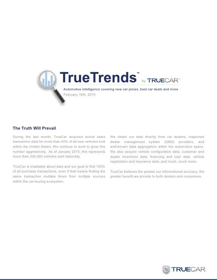 TrueTrends By TrueCar February 2010