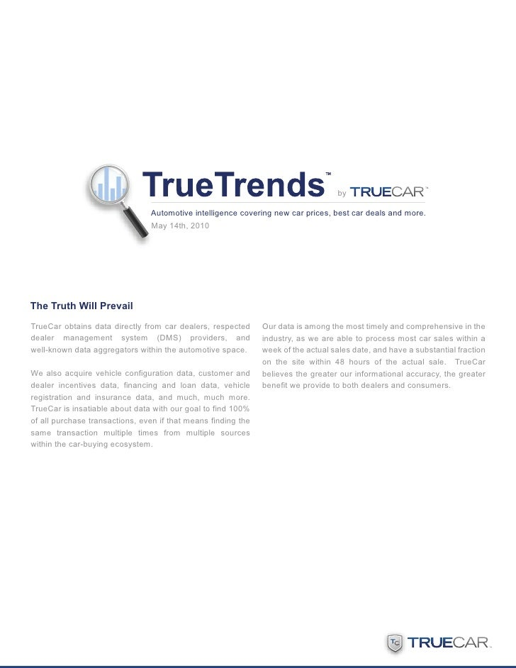 May 2010 TrueTrends by TrueCar