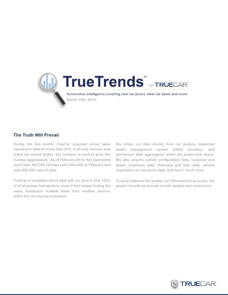 True Trends By True Car March 2010 Final V2