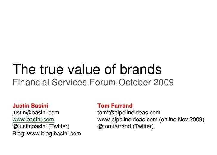 True Value Of Brands