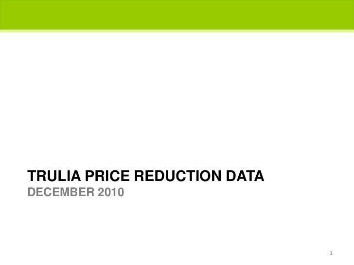 Trulia price reduction dataDecember 2010<br />1<br />