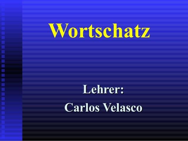 Wortschatz Lehrer:Lehrer: Carlos VelascoCarlos Velasco
