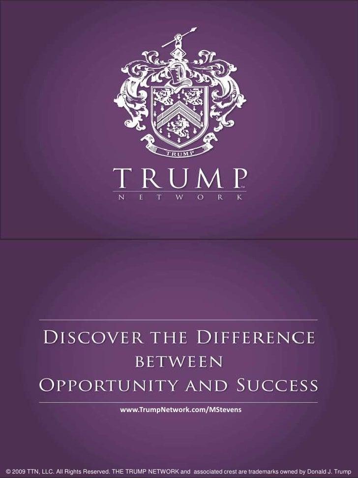 Trump Network Presentation - Donald Trump