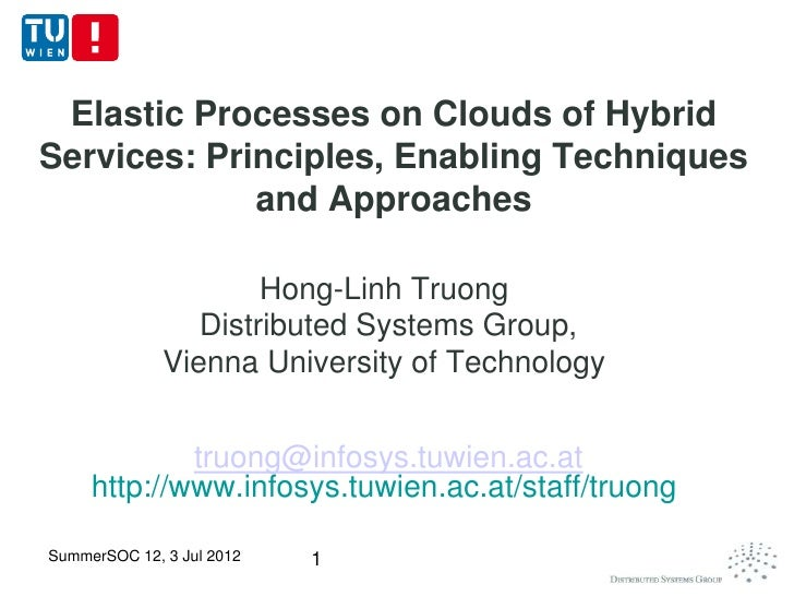 Elastic Processes on Clouds of HybridServices: Principles, Enabling Techniques             and Approaches                 ...