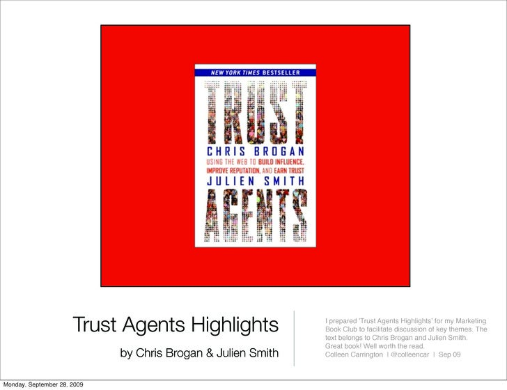 Trust Agents Highlights                 I prepared 'Trust Agents Highlights' for my Marketing                             ...