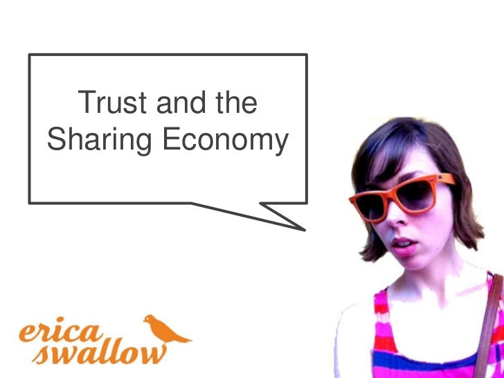 Trust and theSharing Economy