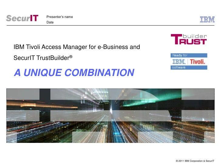 TrustBuilder IBM TAMeb sales presentation v2.3