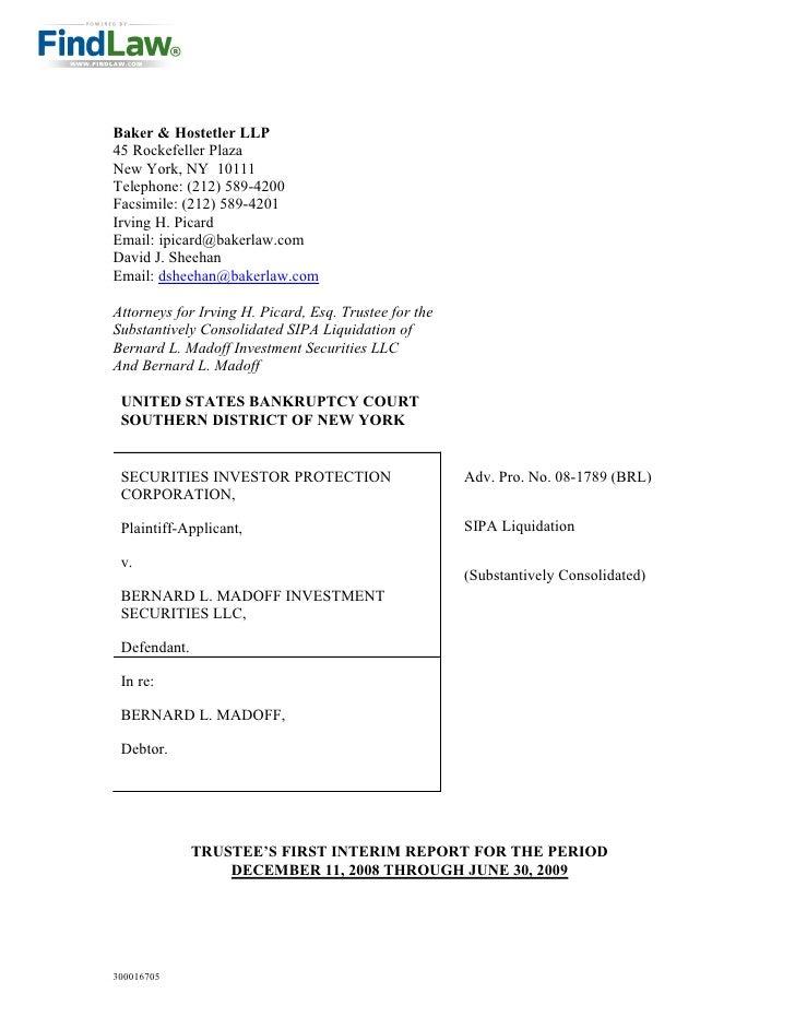 FindLaw | Madoff Trustee Report