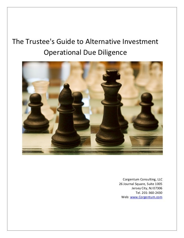 Trustee guide to alternative investment operational due diligence final