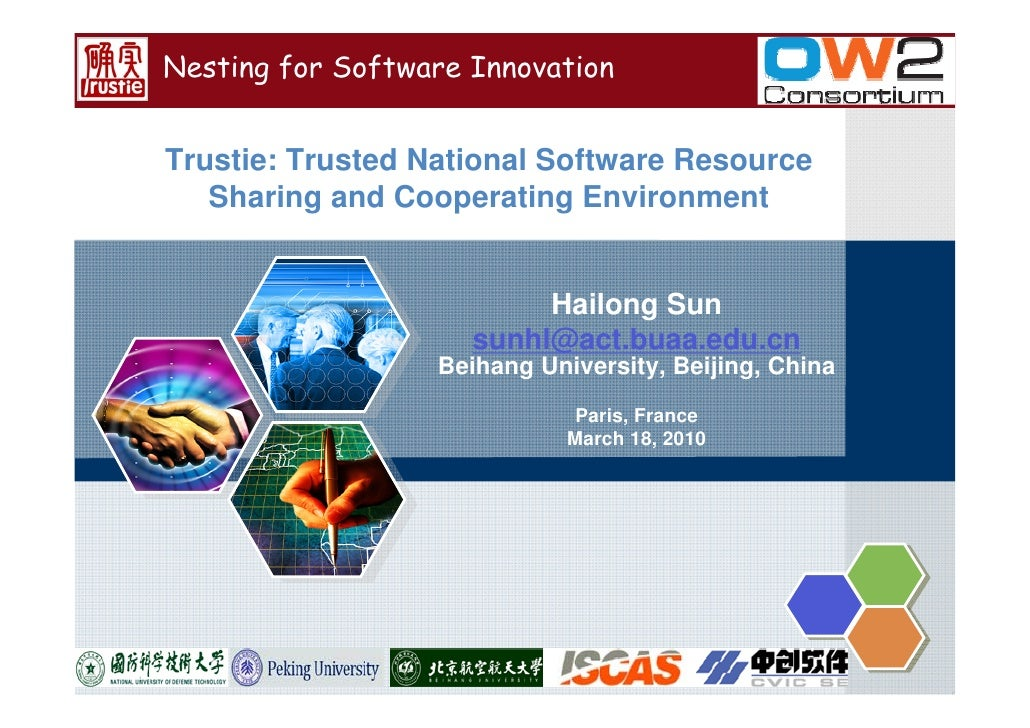 Nesting for Software Innovation   Trustie: Trusted National Software Resource    Sharing and Cooperating Environment      ...