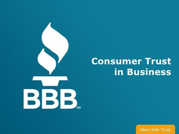Consumer Trust in Business