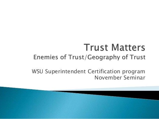 Trust matters sc