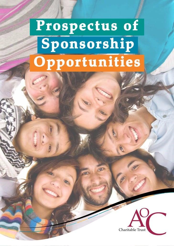 Pr ospect us of Sponsor sh ipOppor t u nit ies