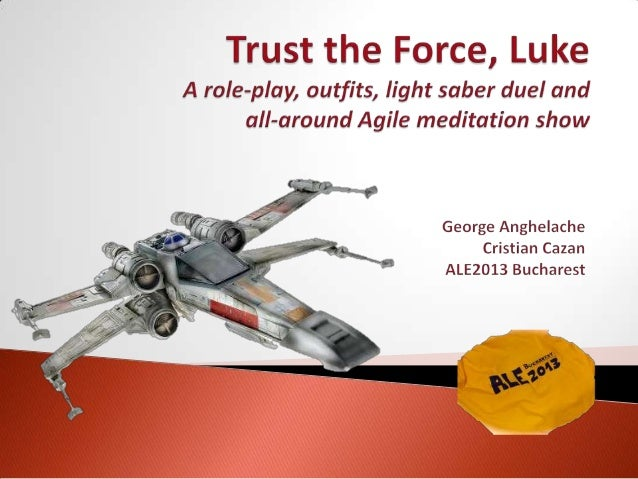 Luke is a young developer set out to change the IT galaxy one Agile Transformation at a time. As our hero, the apprentice ...