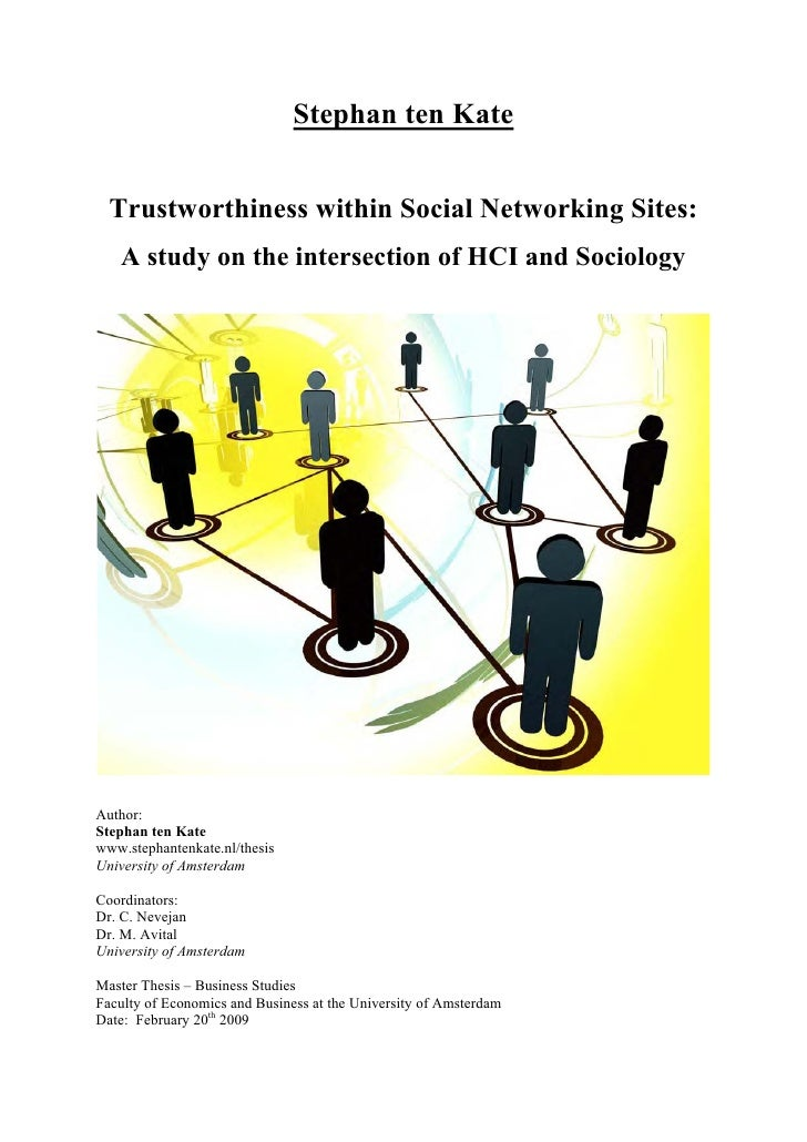 Trustworthiness within social networking sites
