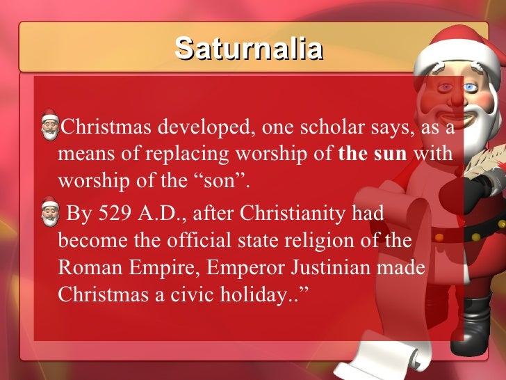 video on saturn pagan history of christmas
