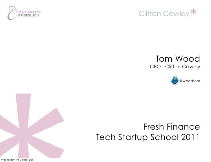 Tom Wood                                         CEO - Clifton Cowley                                                    @...