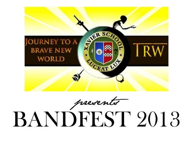 presents  BANDFEST 2013